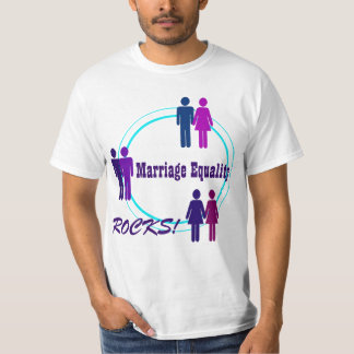 Marriage Equality ROCKS! with Obama Quote Tee Shirt