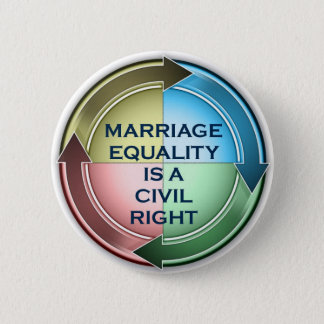 Marriage equality sticker pinback button