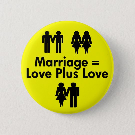 Marriage Equals Love Plus Love Button