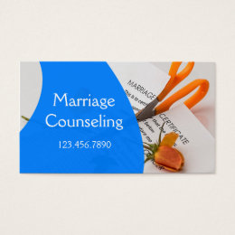 Marriage Family Counseling Business Card
