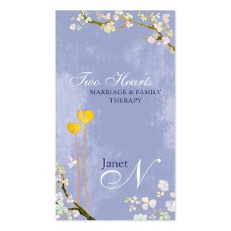 Marriage + Family Therapist Monogram Business Card