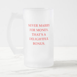 marriage frosted glass beer mug