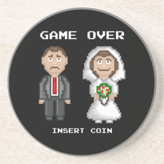 Marriage - Game Over Sandstone Coaster