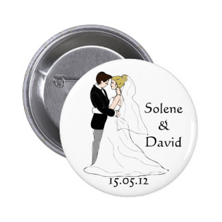 Marriage gift D-day swipes in Pinback Buttons