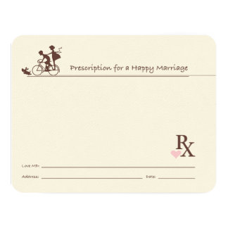 Marriage Guest Book Cards Rx Doctor Prescription
