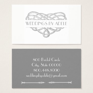 Professional Business Marriage Heart Knot Wedding Planner Business Card