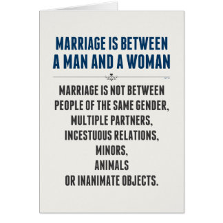 Marriage In America Card