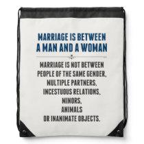 Marriage In America Drawstring Bag