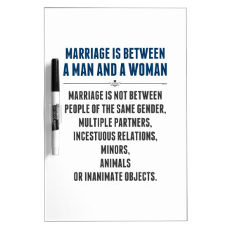 Marriage In America Dry Erase Board