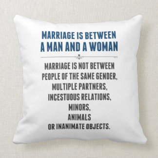 Marriage In America Pillow