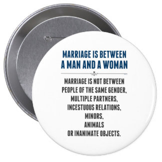 Marriage In America Pinback Button