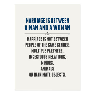 Marriage In America Postcard