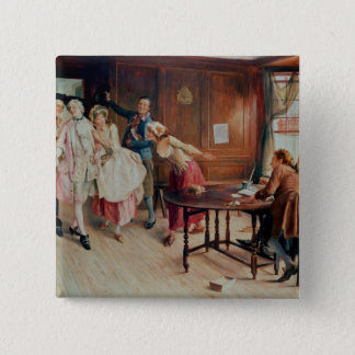 Marriage in Fleet Street, 1898 (oil on canvas) Button