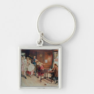 Marriage in Fleet Street, 1898 (oil on canvas) Keychain