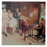 Marriage in Fleet Street, 1898 (oil on canvas) Large Square Tile