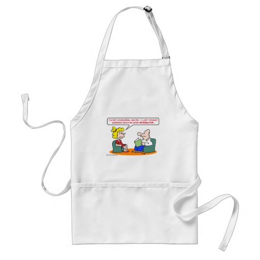 marriage interactive adult apron