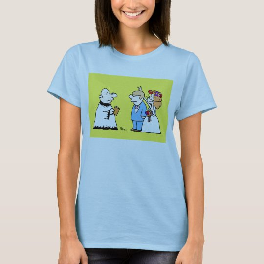 marriage is a funny thing bunny rabbit ears T-Shirt