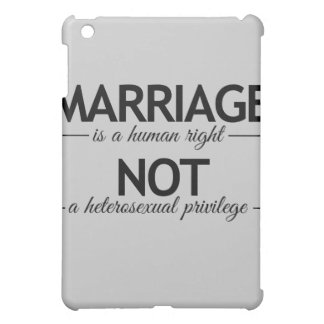 MARRIAGE IS A HUMAN RIGHT - png iPad Mini Covers