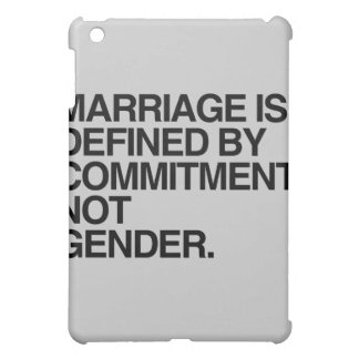MARRIAGE IS DEFINED BY COMMITMENT - png iPad Mini Cases