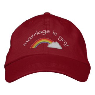 Marriage is Gay Embroidered Baseball Cap