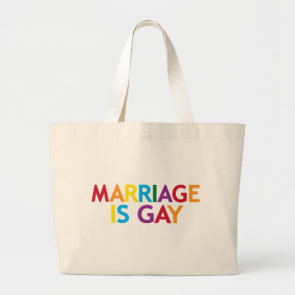 marriage is gay large tote bag