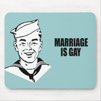Marriage is gay mouse pad