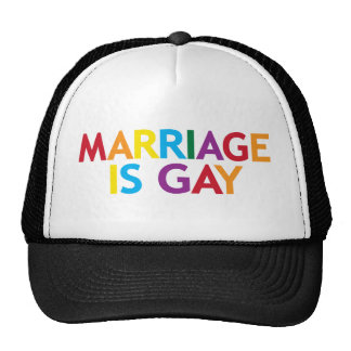marriage is gay trucker hat