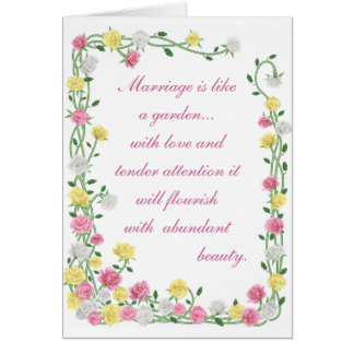 Marriage is like a garden.. greeting card