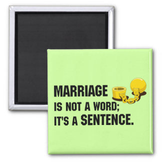 Marriage Is Not A Word Magnet