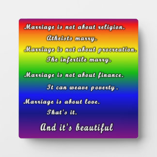 Marriage Is Not Plaque