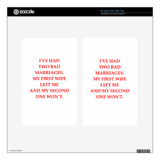 MARRIAGE KINDLE FIRE DECALS