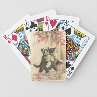 Marriage Kitten Cat Playing Cards