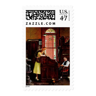 Marriage License by Norman Rockwell Postage