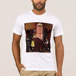 Marriage License by Norman Rockwell T-Shirt
