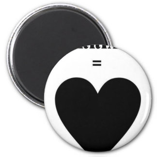 Marriage = Love 2 Inch Round Magnet