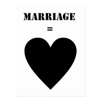 Marriage Love Postcard