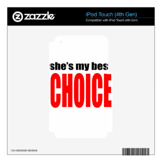 marriage marry joke couple shesmybestchoice wife h decal for iPod touch 4G