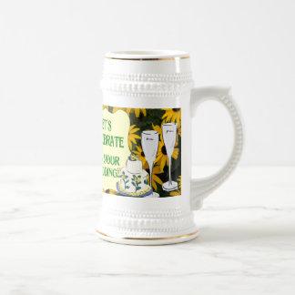 Marriage memories; Let's celebrate 18 Oz Beer Stein