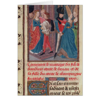 Marriage of Baldwin VI and Marie Card