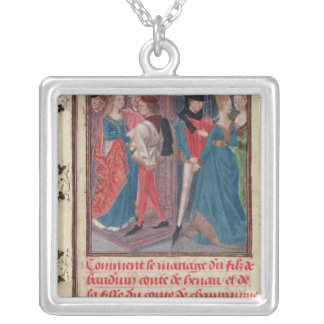 Marriage of Baldwin VI and Marie Silver Plated Necklace