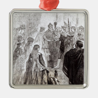 Marriage of Edward II  and Isabella of France Metal Ornament