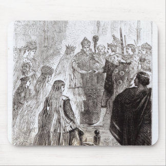 Marriage of Edward II  and Isabella of France Mouse Pad