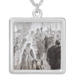 Marriage of Edward II  and Isabella of France Square Pendant Necklace