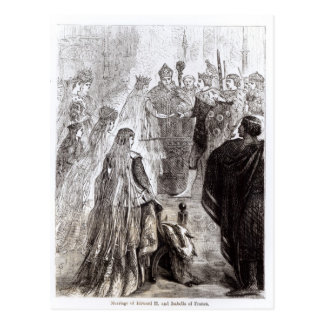Marriage of Edward II  and Isabella of France Postcard