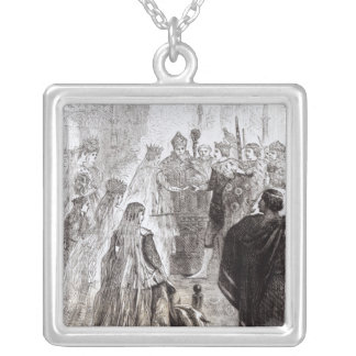 Marriage of Edward II  and Isabella of France Silver Plated Necklace