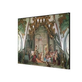 Marriage of Frederick I  Barbarossa Canvas Print
