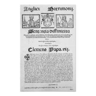 Marriage of Henry VIII and Catherine of Aragon Poster