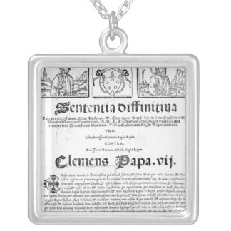 Marriage of Henry VIII and Catherine of Aragon Silver Plated Necklace