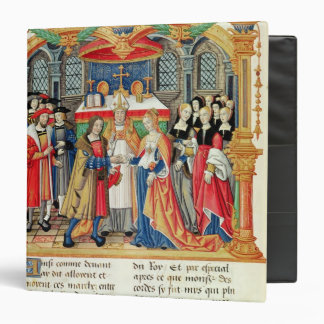 Marriage of Maria of Burgundy and Maximilian I 3 Ring Binder