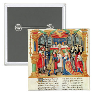 Marriage of Maria of Burgundy and Maximilian I Button